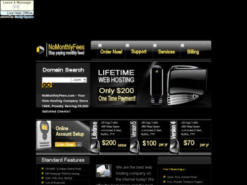NoMonthlyFees Web Hosting