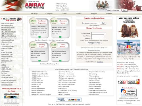 Amray Web Hosting