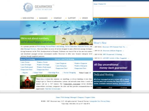 Gearworx Web Hosting Services